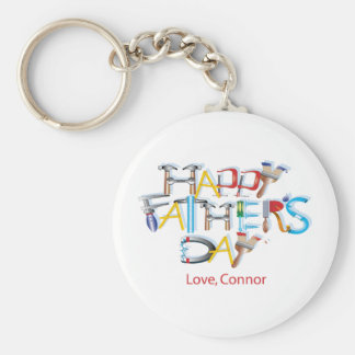 Happy Fathers Day Basic Round Button Key Ring