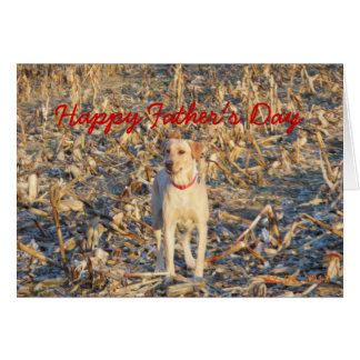 Happy Father's Day Lab Retriever Greeting Card