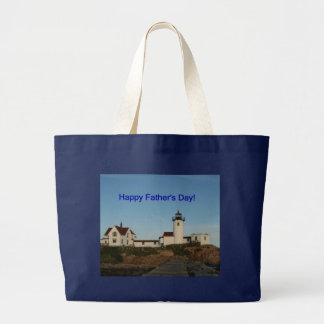 Happy Father's Day, Lighthouse Jumbo Tote Bag