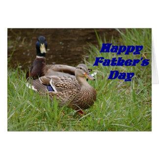 Happy Father's Day Mallard Ducks Card