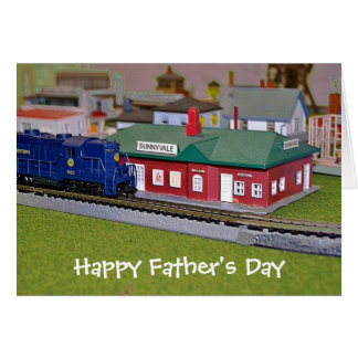 Happy Father's Day - Model Train Greeting Card