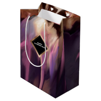 Happy Father's Day Modern Abstract Custom Gift Bag