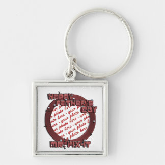 Happy Father's Day Mr. Fix-it Wooden Frame Keychain