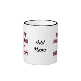 Happy Father's Day Mr. Fix-it Wooden Text Design Ringer Mug