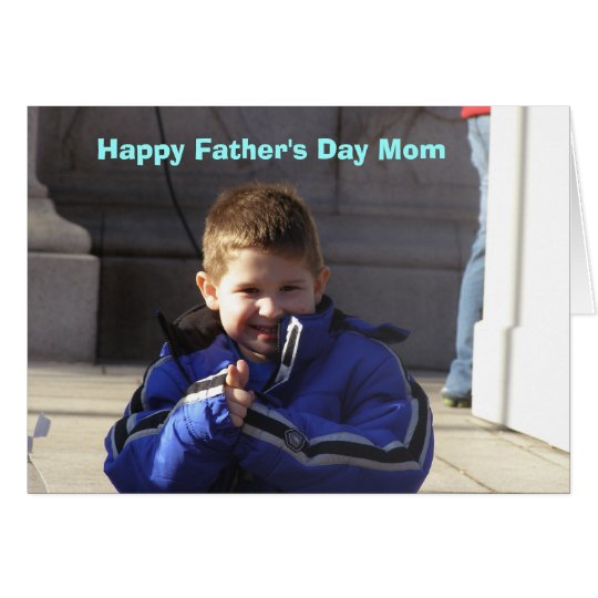 Happy Fathers Day Mum Card