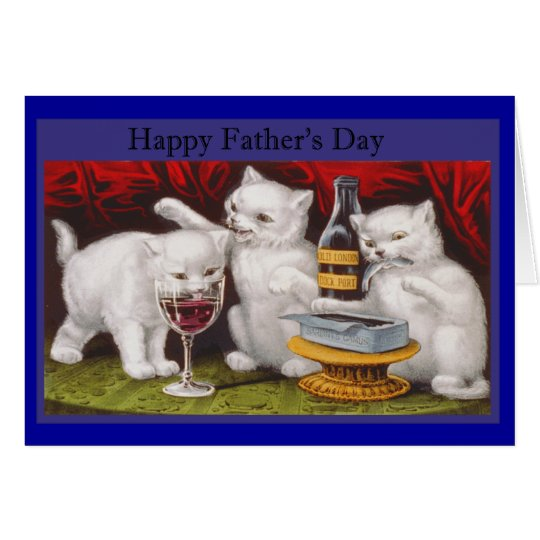 Happy Fathers Day Naughty Kittens Card