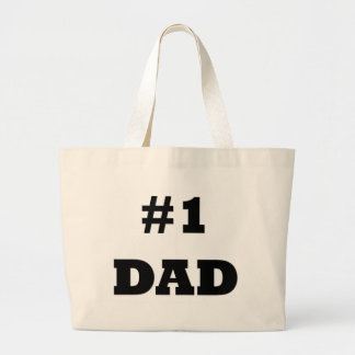 Happy Father's Day - Number 1 Dad - #1 Dad Jumbo Tote Bag
