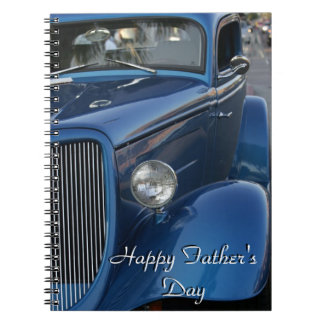 """Happy Father's Day"" on Vintage Car notepad Note Books"