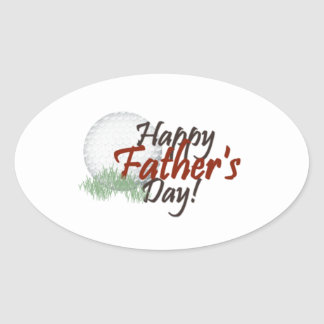 happy fathers day oval sticker