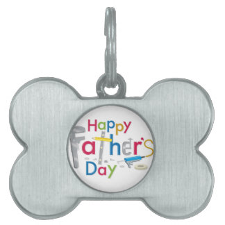 happy father's day pet ID tag