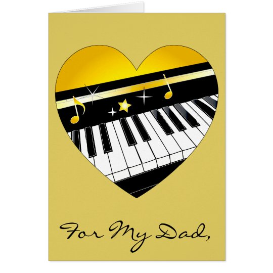 Happy Father's Day Piano and Music Card