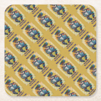 Happy Fathers Day - Play Far Far Away Square Paper Coaster