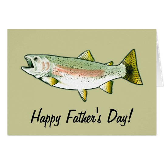 Happy Father's Day: Rainbow Trout Card