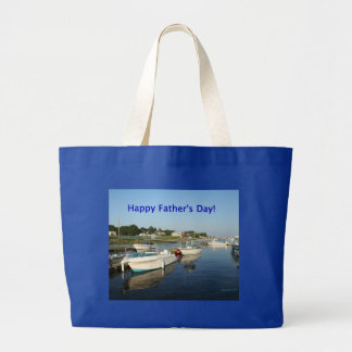 Happy Father's Day, reflections on the river Canvas Bags
