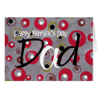 happy father's day retro circles greeting card