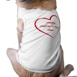 Happy Father's Day Sleeveless Dog Shirt