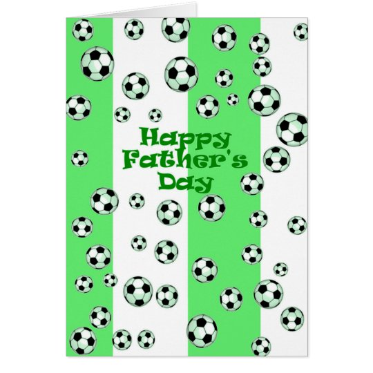Happy Father's Day Soccer Card