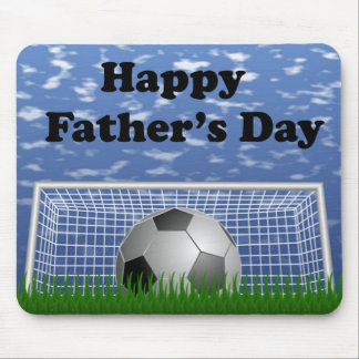 Happy Fathers Day Soccer Mouse Pad