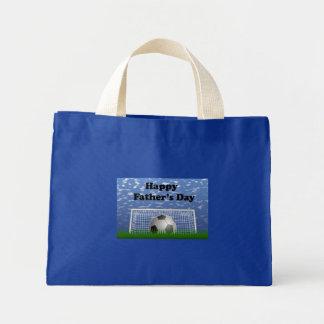 Happy Fathers Day Soccer Mini Tote Bag