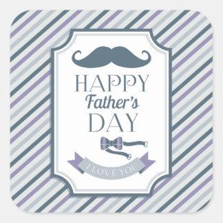 Happy Father's Day Square Sticker