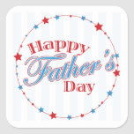 Happy Fathers Day Square Stickers