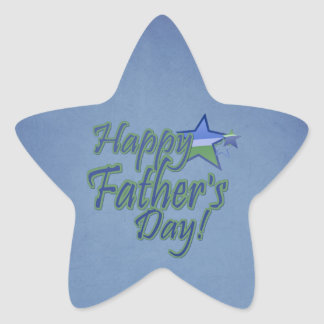 happy fathers day star sticker