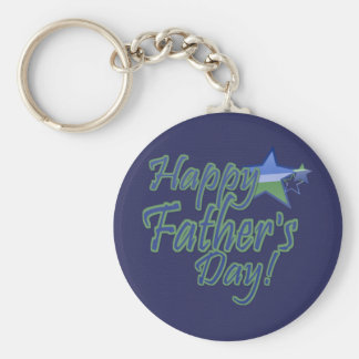 happy fathers day StarDad Basic Round Button Key Ring