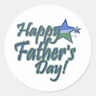 happy fathers day StarDad Classic Round Sticker