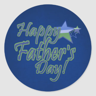 happy fathers day StarDad Round Sticker