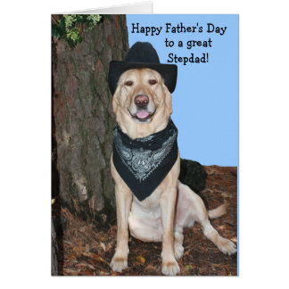Happy Father's Day Stepdad Greeting Card