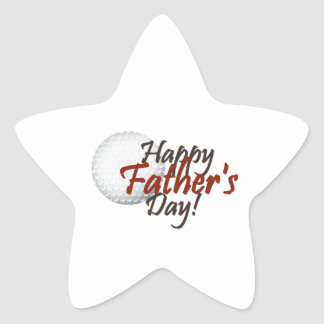happy fathers day star stickers