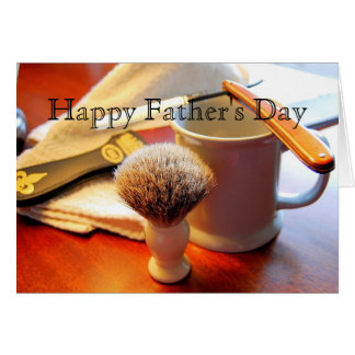 Happy Father's Day, Straight Edge Razor Card