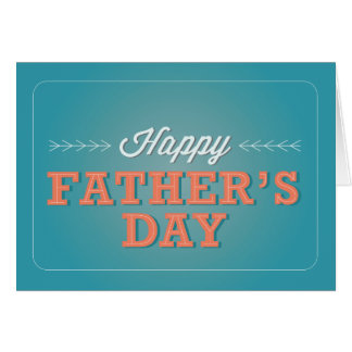 Happy Father's Day - Teal Card