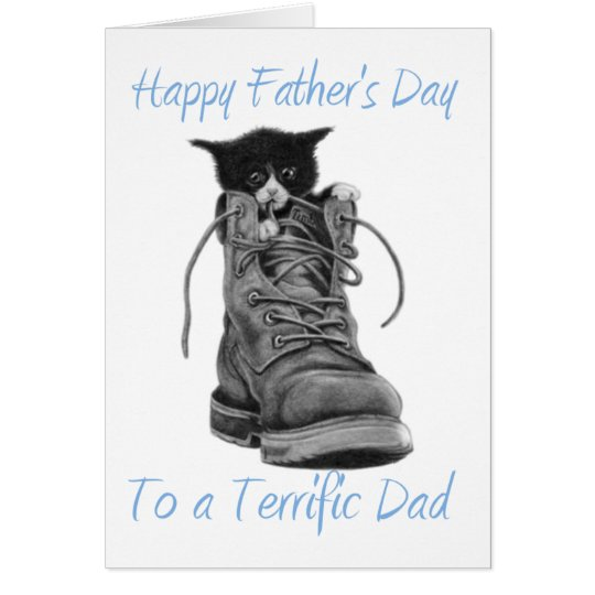 Happy Father's Day To a Terrific Dad Card (Blank)