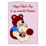 Happy Father's Day to Husband from Wife Greeting Card