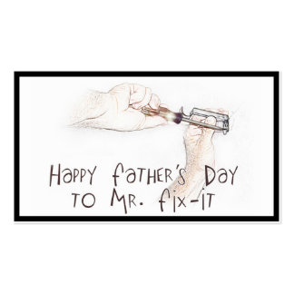 Happy Fathers Day to the Handyman! Pack Of Standard Business Cards