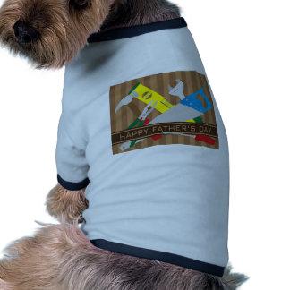 Happy Fathers Day Tools Illustration Ringer Dog Shirt