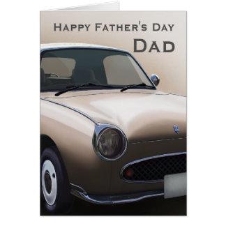 Happy Father's Day Topaz Mist Figaro Car Card