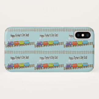 Happy Fathers Day Train iPhone X Case