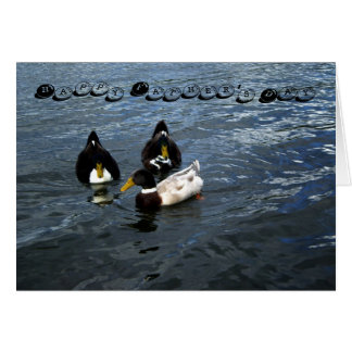 Happy Father's Day Trio Ducks Greeting Card