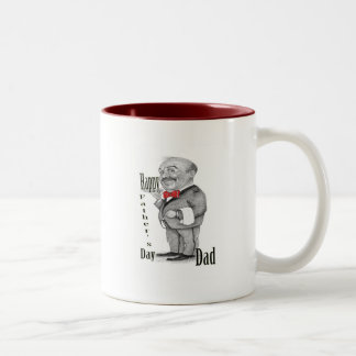 Happy Father's Day Two-Tone Coffee Mug