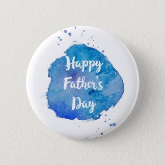 Happy Father's Day|Watercolor Splash 6 Cm Round Badge