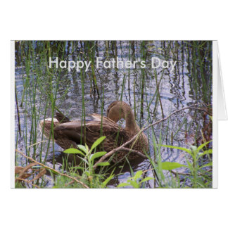 Happy Father's Day with Duck Greeting Card