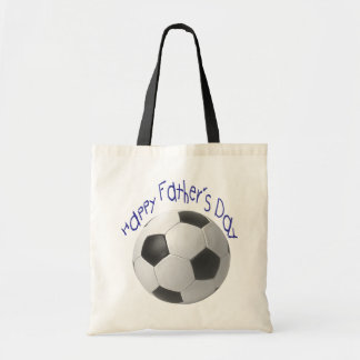Happy Father's Day with Football Art Canvas Bags