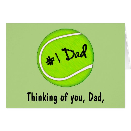 Happy Father's Day with Tennis Ball Card