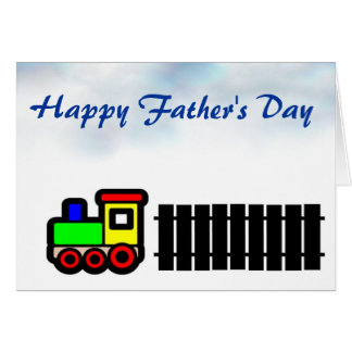 Happy Father's Day with train to Dad Greeting Card