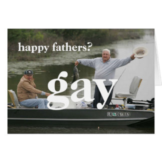 happy fathers gay greeting card