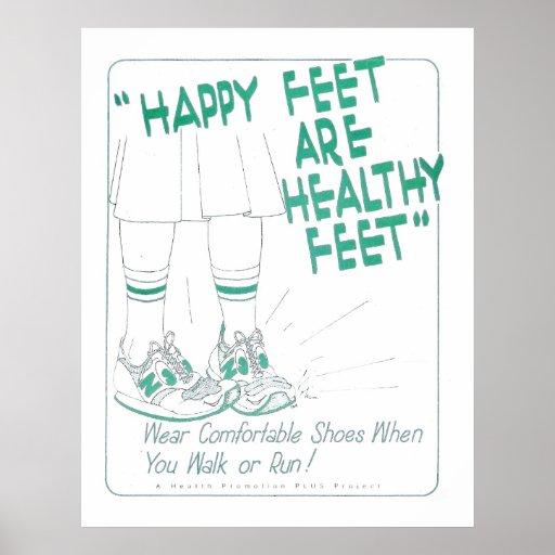 Happy Feet are Health Feet Poster