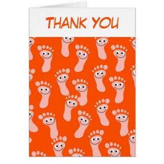 Happy Feet Wallpaper, Thank You Greeting Card