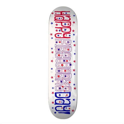 Happy Fireworks Day ! With Red White & Blue Stars Skate Deck